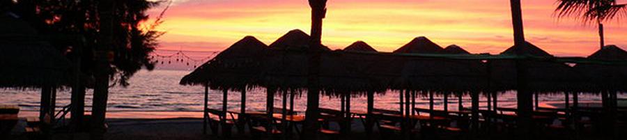พระอาทิตย์ตก ที่ ชายหาดจันทบุรี สวยงามมาก